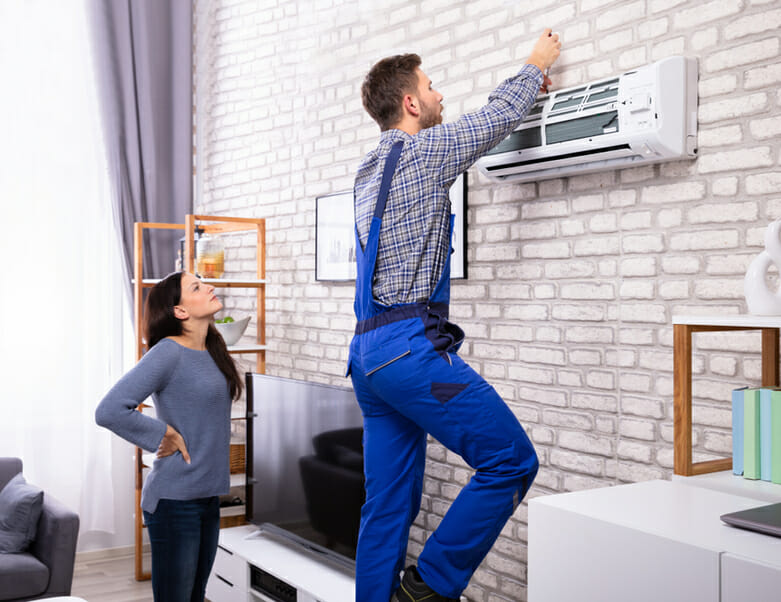 Air conditioning male technician