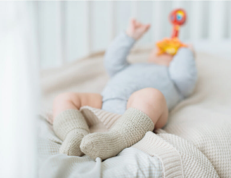 Baby in room with air conditioning