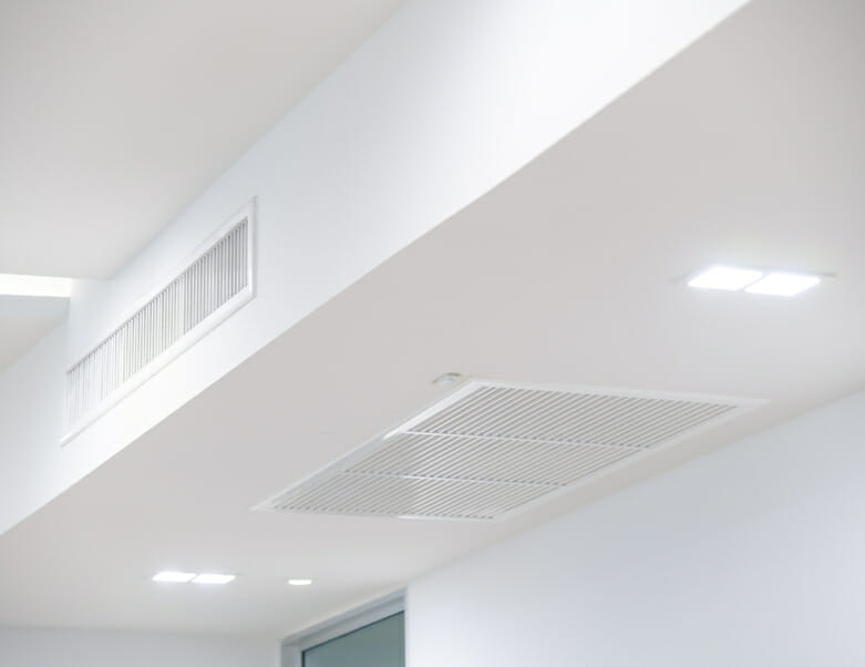 Air conditioning mounted in ceiling
