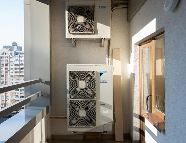 Daikin Air Conditioning in balcony