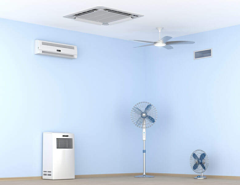 Different types air conditioning