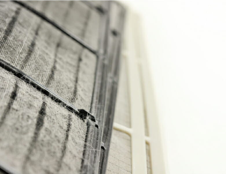 Dirty air conditioner filter